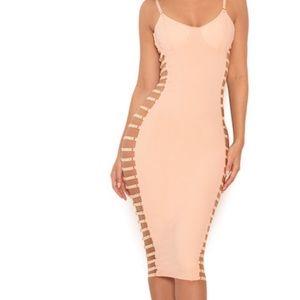 House of cb Giovanna open side bustier dress